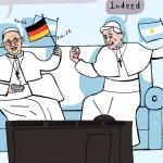 Hai Giáo Hoàng với trận thi đấu chung kết World Cup 2014